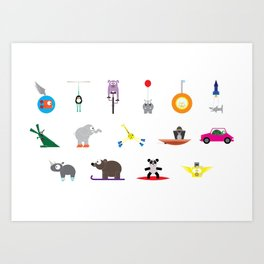 Characters From An Imaginary World Art Print