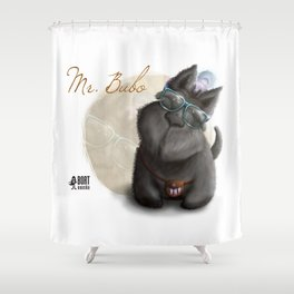 Mr. Bubo Shower Curtain