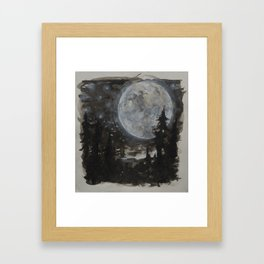 Moon 01 Framed Art Print