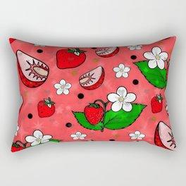 Strawberry Popart by Nico Bielow Rectangular Pillow