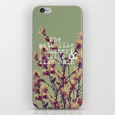She Acts Like Summer iPhone & iPod Skin