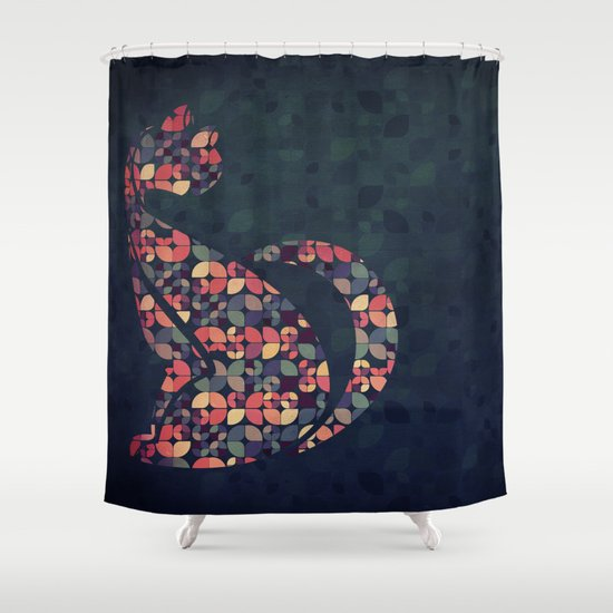 The Pattern Cat Shower Curtain
