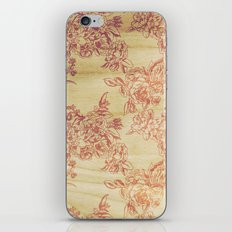 Cabbage Roses - Wood iPhone & iPod Skin