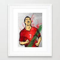 ronaldo Framed Art Prints featuring Cristiano Ronaldo by Bunch of Fives