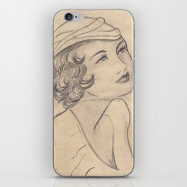 Lady Face 2  iPhone Skin