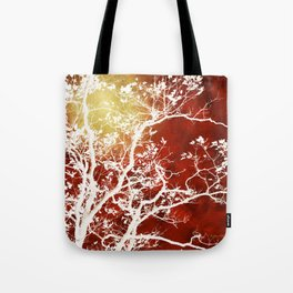 Burgundy Tree Art Tote Bag