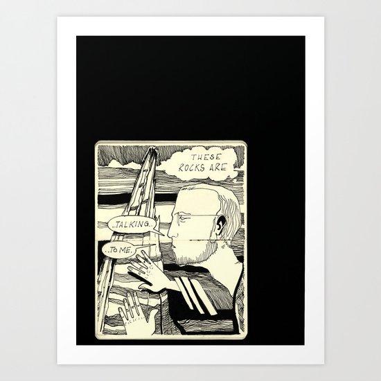 Talking Rocks Art Print