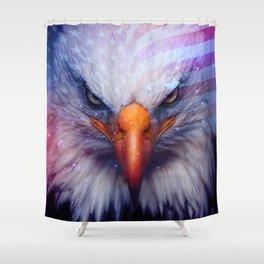 American Flag & Eagle Shower Curtain
