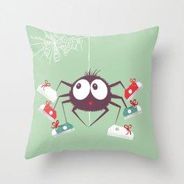 Halloween Spider Throw Pillow