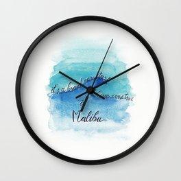 It's a brand new start.... in #Malibu Wall Clock