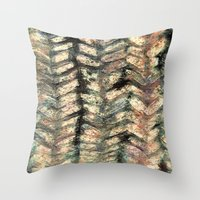 herringbone Throw Pillows featuring Herringbone by Janice MacDougall