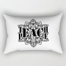 Teach Peace Mandala Rectangular Pillow