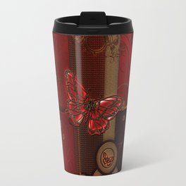 Beautiful butterflies with floral elements Travel Mug