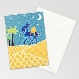 Moroccan camel scene Stationery Cards