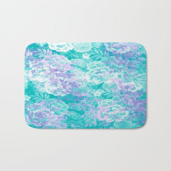 Elegant Vintage Floral Abstract Bath Mat