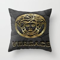 versace Throw Pillows featuring versace 2 by Beauti Asylum