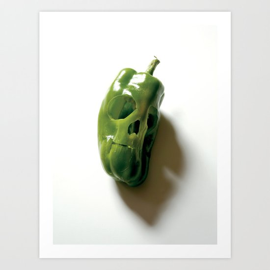 87. Bell Pepper Skull Art Print