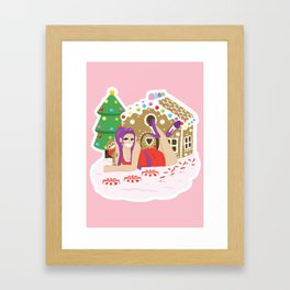 Gingerbread Village Framed Art Print