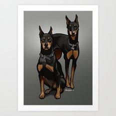 Leo & Libra Art Print
