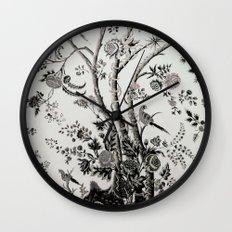 Peacock Tree Natural Wall Clock