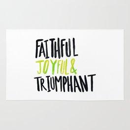 Faithful Joyful and Triumphant x Lime Rug