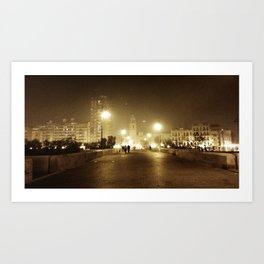 ...and all the lights that lead the way are blinding... Art Print