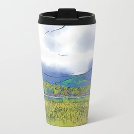 Mountain Meadow Lake Metal Travel Mug