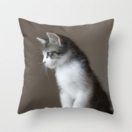 Jack - Kitten Portrait #1 (2016) Throw Pillow