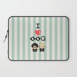 I love 00Q: Stripes Laptop Sleeve