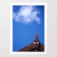 maori Art Prints featuring Maori by heath korvola