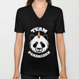 Team pandacorn. Unisex V-Neck