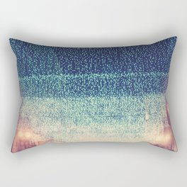 downtown Los Angeles at night photograph. Starry Night Rectangular Pillow