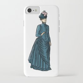 Fashion sketch of a 19th century Woman iPhone Case