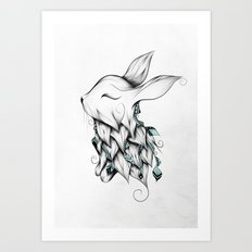 Poetic Rabbit Art Print