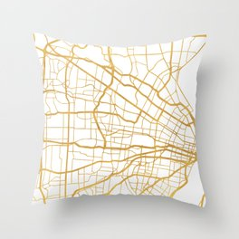 ST. LOUIS MISSOURI CITY STREET MAP ART Throw Pillow