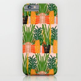Plants on Pink iPhone Case