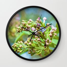 Lilac Flower - Primus Inter Pares Wall Clock
