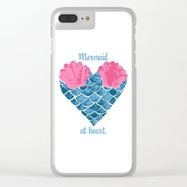 Mermaid at heart Clear iPhone Case