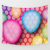 balloons Wall Tapestries featuring Balloons by Steel Graphics