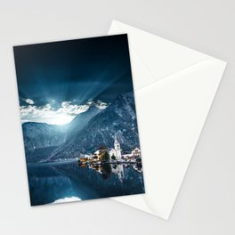 hallstatt in austria Stationery Cards