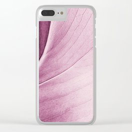 Leaf Abstract Clear iPhone Case