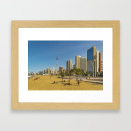 Beach and Buildings of Fortaleza Brazil Framed Art Print