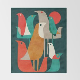 Flock of Birds Throw Blanket