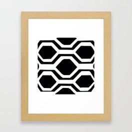 Black and White Geometric Framed Art Print