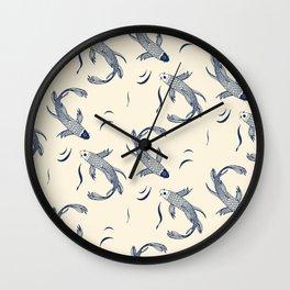 Koi Traditional Japanese Inspired 3 Wall Clock