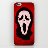 scream iPhone & iPod Skins featuring Scream by Bill Pyle