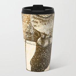 Window Cat Metal Travel Mug