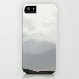 Rannoch Moor - mists and mountains iPhone Case
