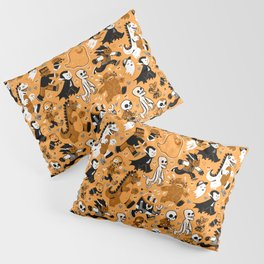Monster March (Orange) Pillow Sham