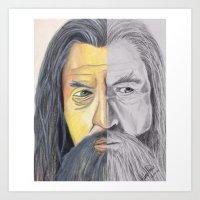 gandalf Art Prints featuring Gandalf   by RidnelSilva